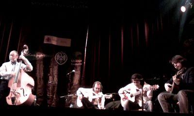 Dave Holland, Pepe Habichuela, Josemi Carmona y Carlos Carmona. Foto: Arturo Mora Rioja