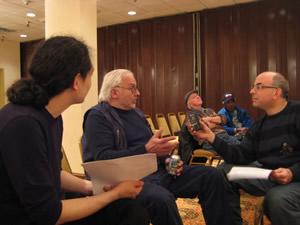 Nobu Stowe (de espaldas), Paul Bley y Ken Weiss © Hirohiko Kamiyama, 2008