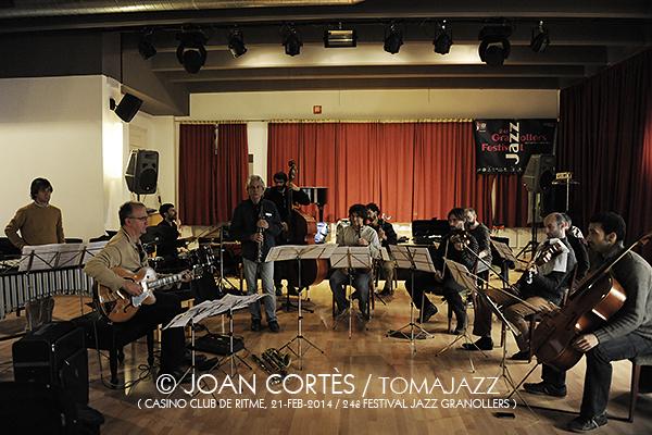 04_JAZZGRANOLLERS ENSEMBLE_Joan Cortes_21feb2014_Casino Club de Ritme_24Festival Jazz Granollers_Granollers