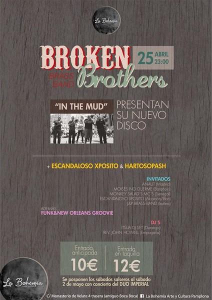 Broken Brothers Brass Band Concierto presentacion Pamplona