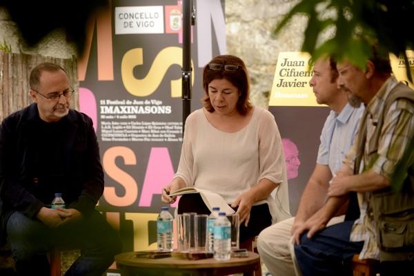 De izquierda a derecha: Nani García, Lara López, Pachi Tapiz y Rui Eduardo Paes