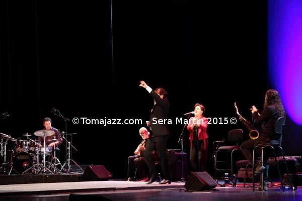 "Jazz en Flamenco On Fire 2015. Jorge Pardo presenta ""Cumbre Flamenca Latin Jazz"" / Linares – Pardo – Di Geraldo – Benavent ""CU4TRO"" / Dorantes – Marina Heredia ""Las Esencias"" / Carmona – Colina – Bandolero (Pamplona, Navarra. 24/29-VIII-2015)"
